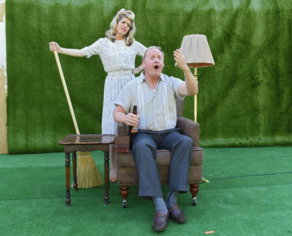 Sandra Bargman and Tim Nelson during rehearsal for Damn Yankees on the Park Playhouse stage in Washington Park on Monday, June 25, 2018 in Albany, N.Y. (Lori Van Buren/Times Union)