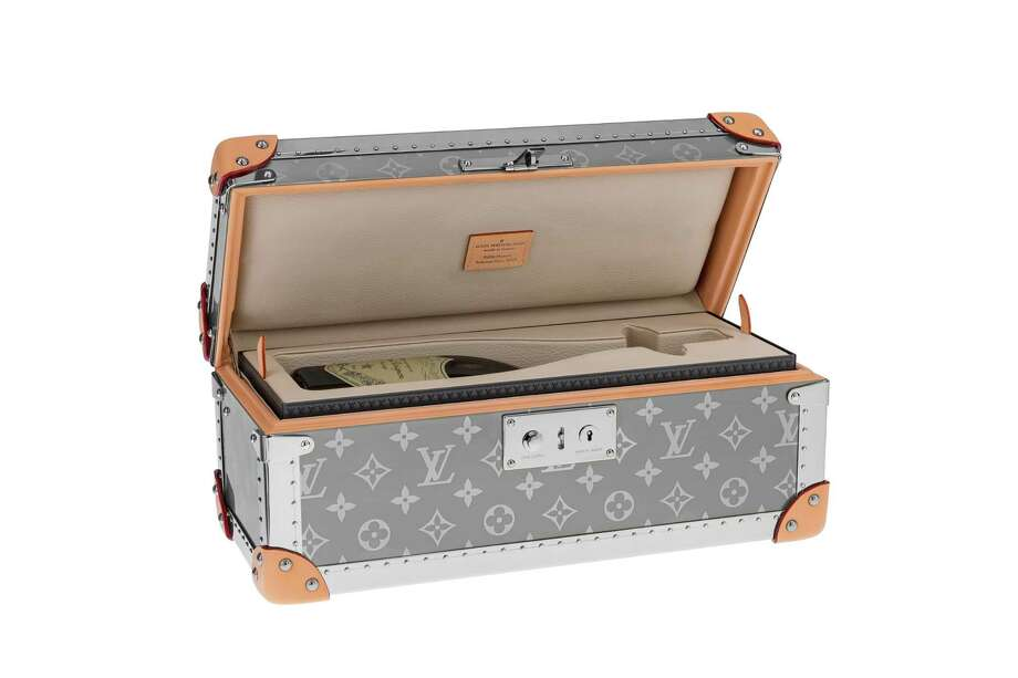 Louis Vuitton's champagne carrier, new in its Horizon Titane collection. Photo: Louis Vuitton
