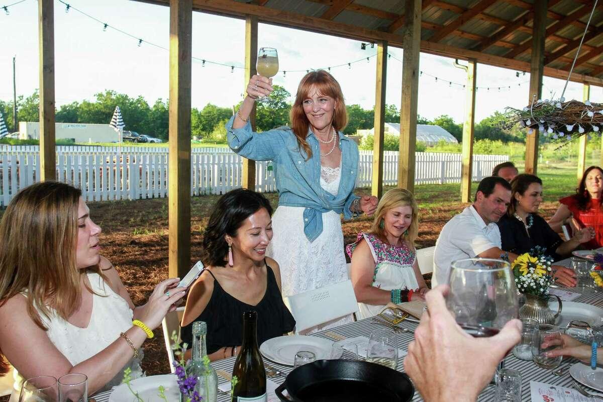 Gracie Cavnar toasting, at Recipe for Success's