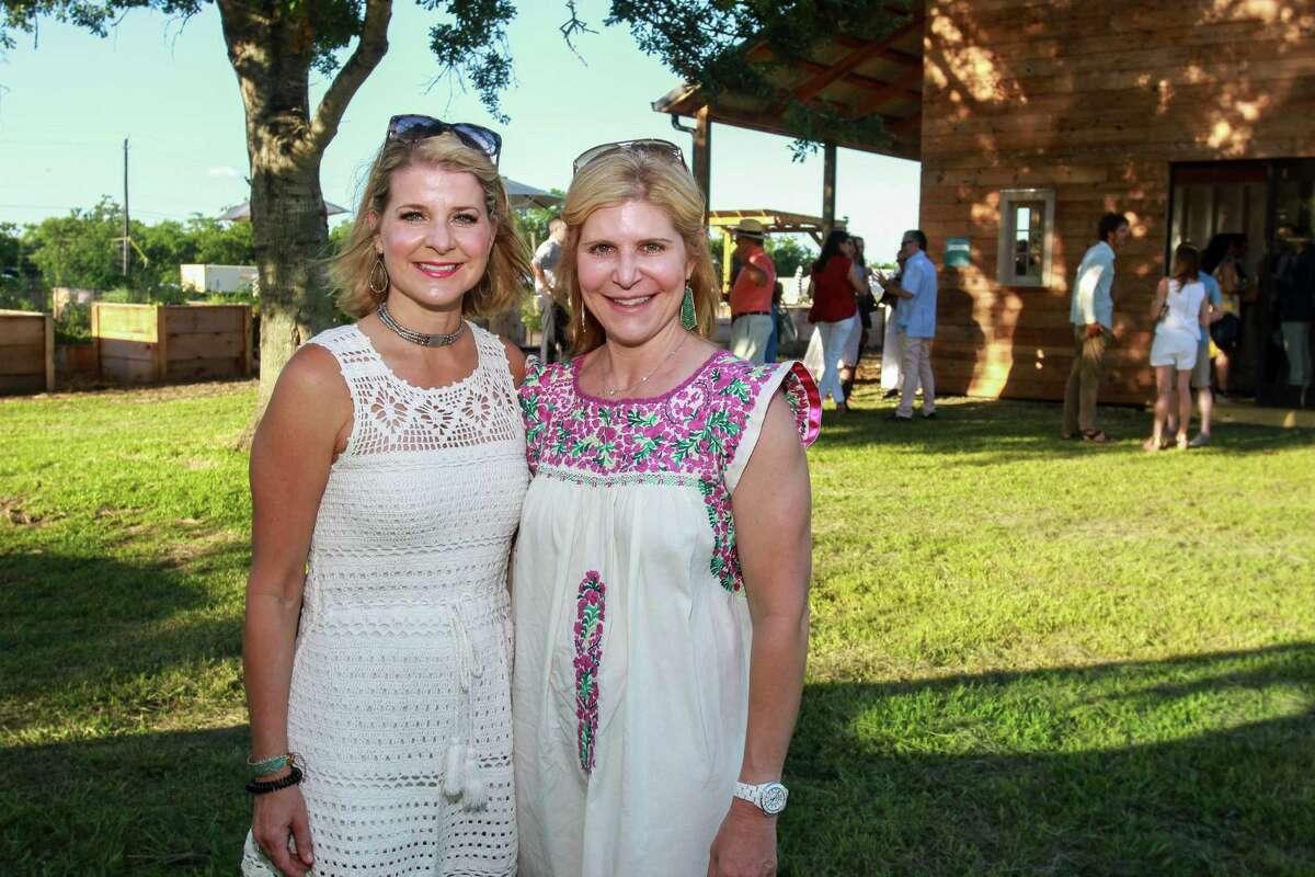 Elizabeth Edwards, left, and Amy Krasner at Recipe for Success's