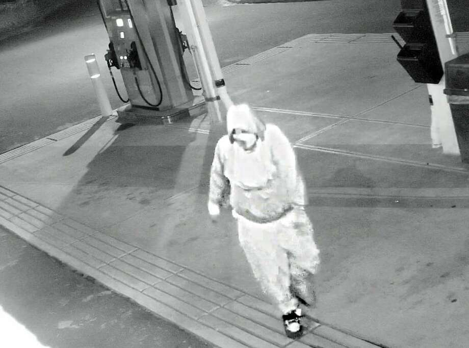 Connecticut State Police are looking for a suspect in a 3 a.m. break in at Deb's Restaurant at 40 Saybrook Road and an attempted burglary the next day at the Mobile Gas Station at 1016 Killingworth Road. Photo: Courtesy Haddam State Trooper's Office