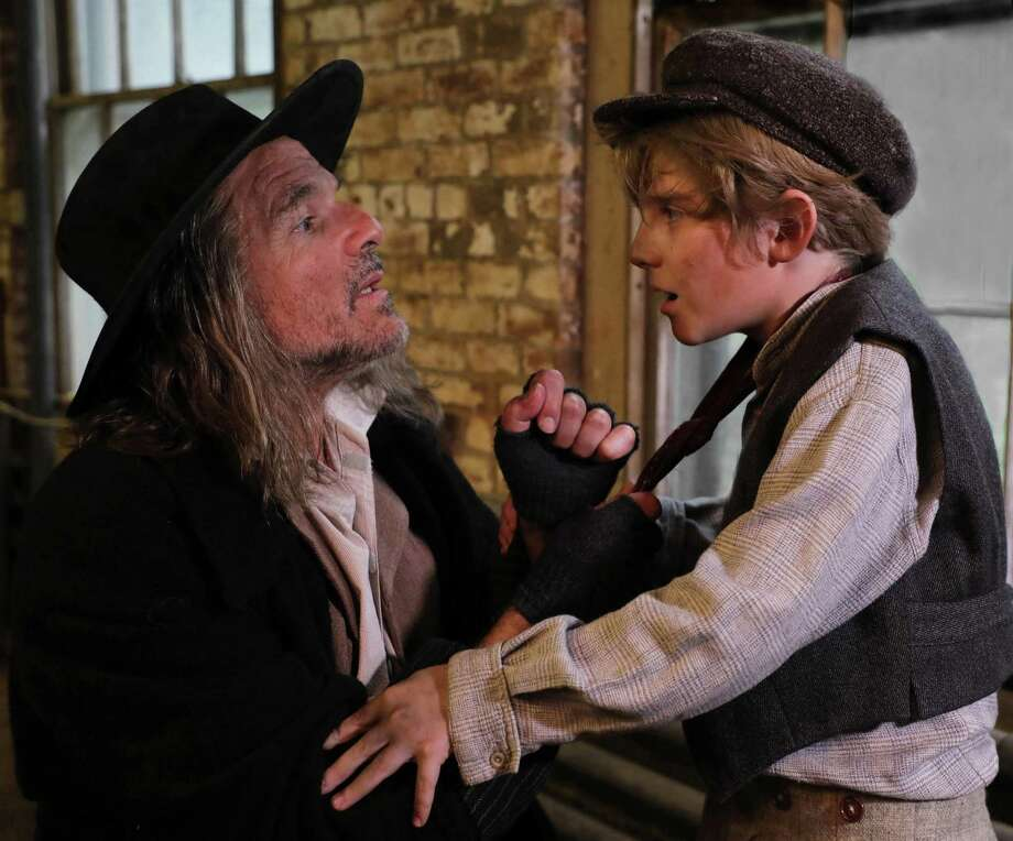 "Donald Corren, as Fagin, and Elijah Rayman, as Oliver, in Goodspeed Musicals' ""Oliver!"" The show will be on stage at The Goodspeed in East Haddam June 29 through Sept. 8. Photo: Diane Sobolewski / Contributed Photo / (C)2018 Diane Sobolewski, Goodspeed Musicals"