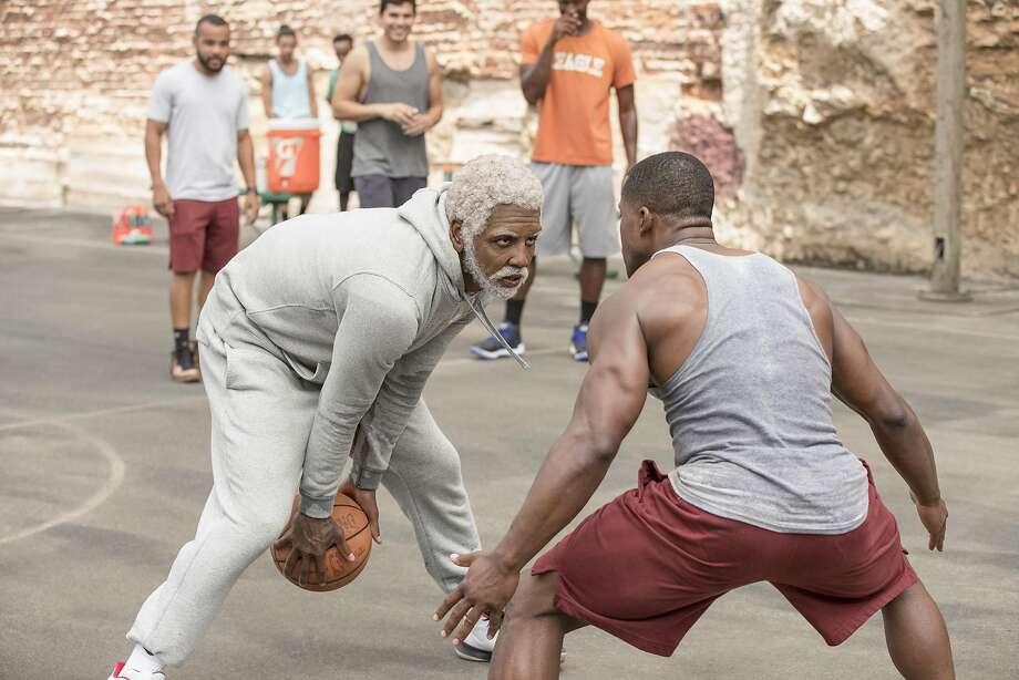5865dddb4ee7 NBA All-Star Kyrie Irving stars as a septuagenarian basketball player who  still has plenty