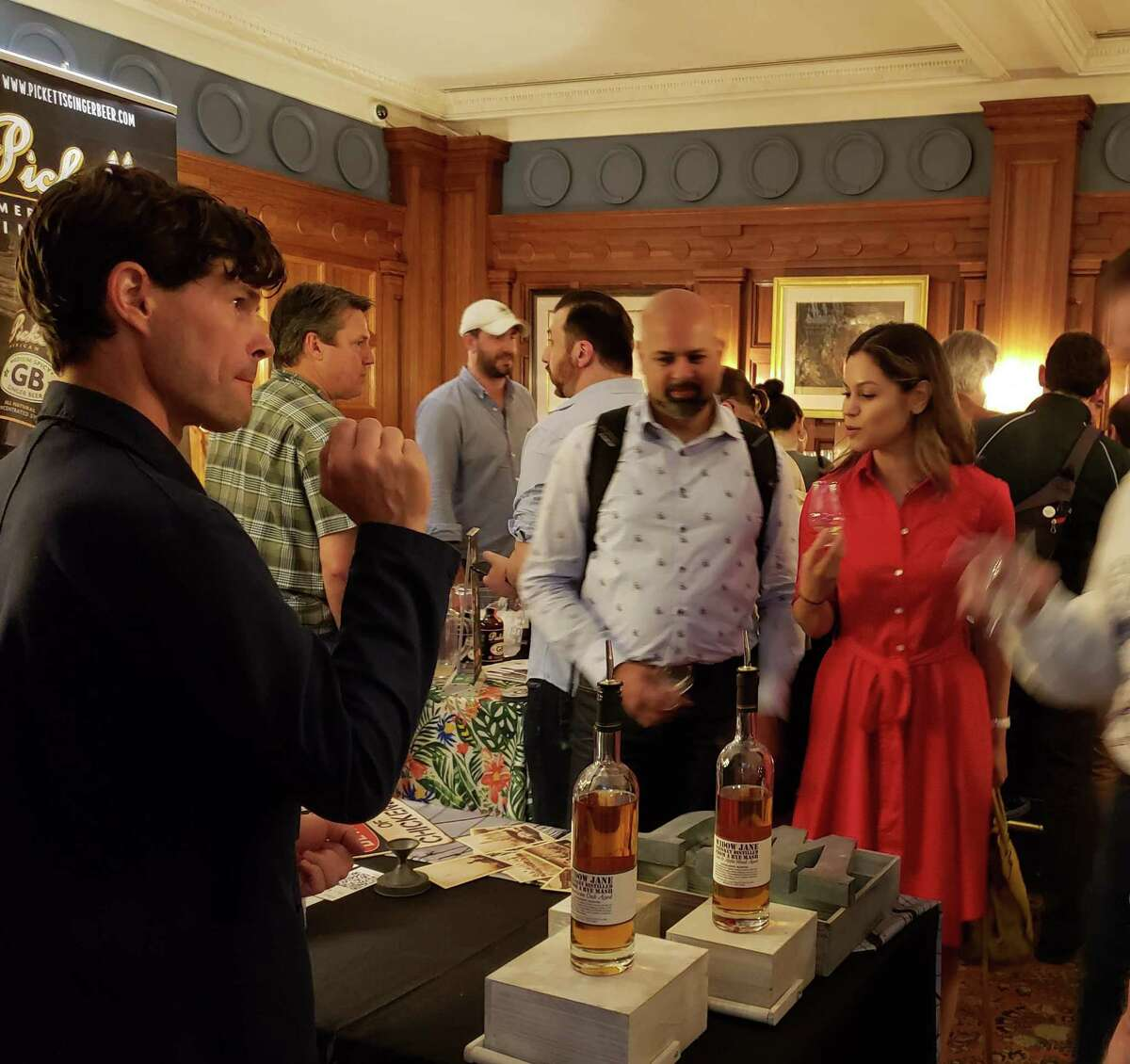 The enthusiastic crowd tasting and talking at the Independent Spirits Expo in Manhattan.