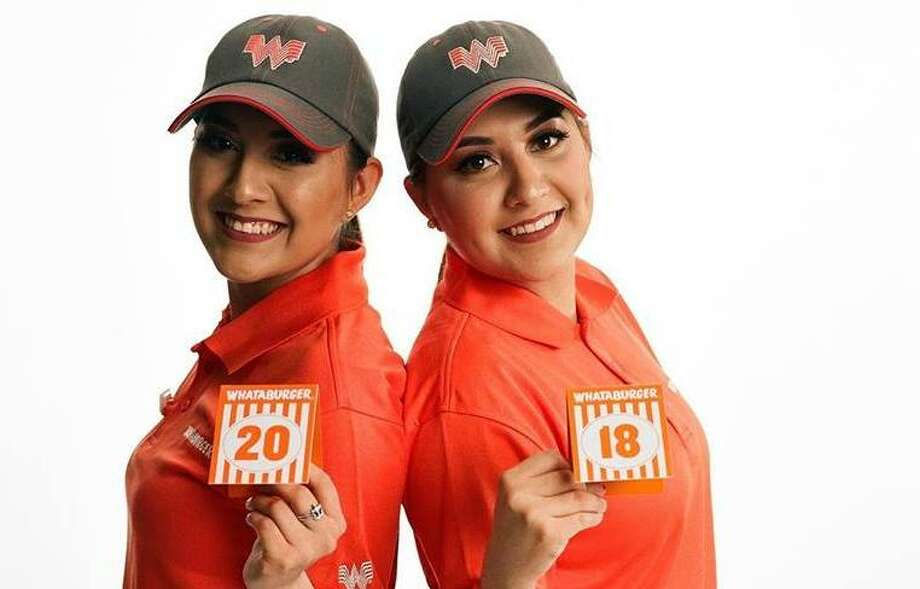 Twins Alyssa and Alejandra Ordónez have worked for Whataburger for six years. Their photo will be featured at the Uniform 300 pop-up event on Thursday, June 28. Photo: Courtesy Rahm Carrington