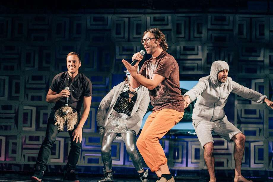 Rhyme Combinator's hip-hop show satirizes Silicon Valley culture. Photo: Daniel Lee / Silicon Valley Fashion Week