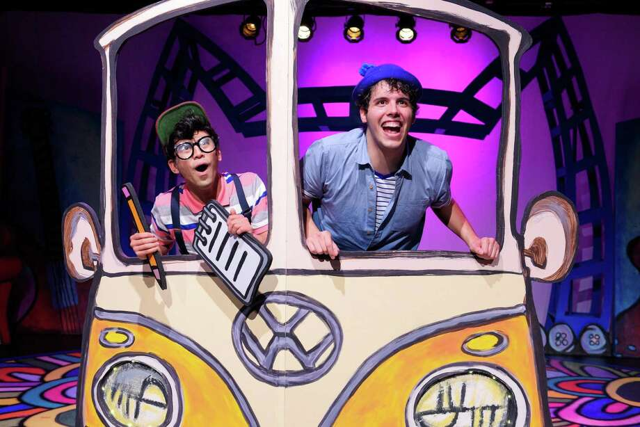 "Earl Alfred Paus and Zachary Hasbany in ""Pete the Cat."" Photo: Alessandra Mello / Bay Area Children's Theatre / ALESSANDRA MELLO PHOTOGRAPHY"