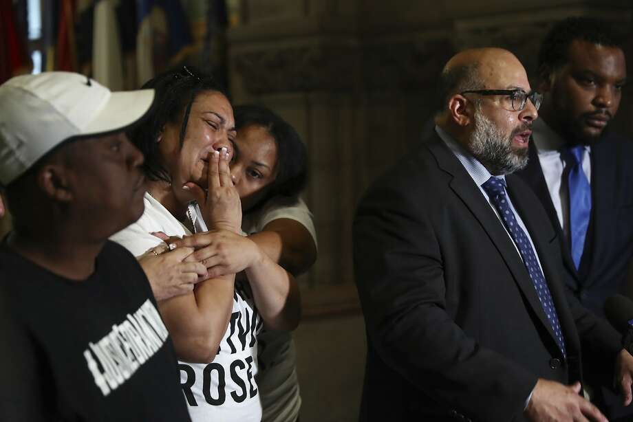 Michelle Kenney Second From Left Mother Of Antwon Rose Jr Reacts As