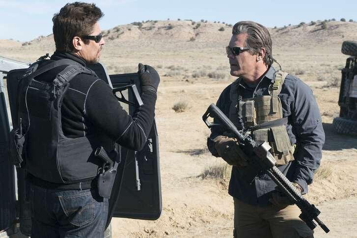 """Benicio Del Toro, left, and Josh Brolin play shadowy U.S. government operatives in """"Sicario: Day of the Soldado."""""""