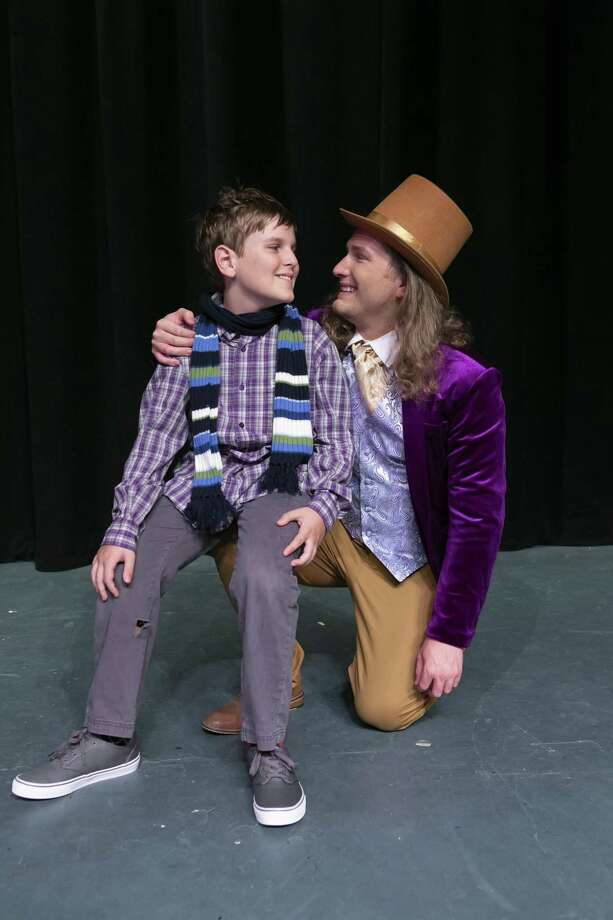 """Adam Isbell as Willy Wonka and James Pate as Charlie Bucket in Stage Right's """"Willy Wonka"""" which opens at the Crighton Theatre on July 6. Photo: Photo By Michael Pittman / Michael Pittman all rights reserved"""