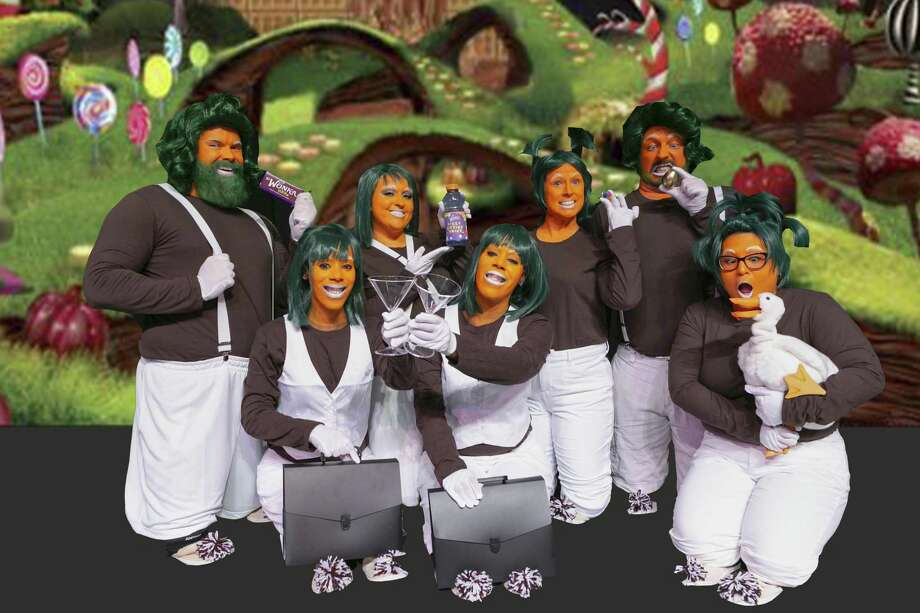 "A group of Oompa Loompas in Stage Right's ""Willy Wonka"" which continues in a matinee today and for one more weekend at the Crighton Theatre in downtown Conroe. Photo: Photo By Michael Pittman / Michael Pittman all rights reserved"