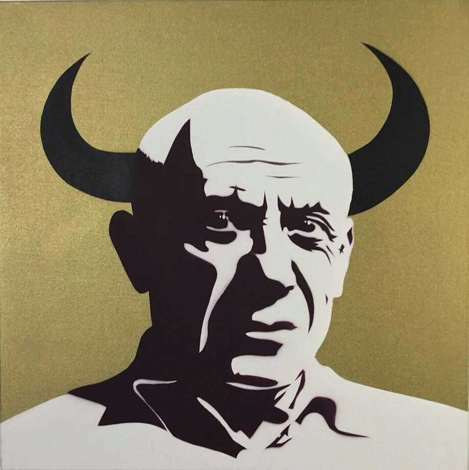 """Picasso - El Toro"" is among works by the internationally-known pop artist Pure Evil (Charles Uzzell Edwards) on display at Cindy Lisica Gallery June 29-Sept. 1. Photo: Courtesy Of The Artist / Cindy Lisica Gallery"