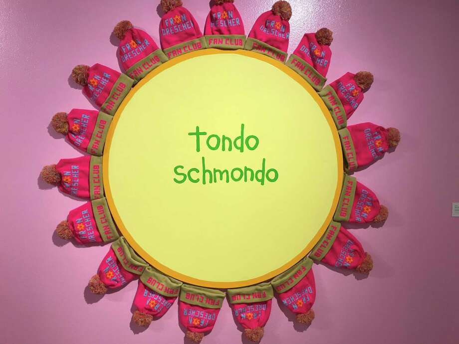 """""""Tondo Schmondo"""" is among works on view in """"Cary Leibowitz: Museum Show"""" at the Contemporary Arts Museum Houston. Photo: Molly Glentzer / Houston Chronicle"""