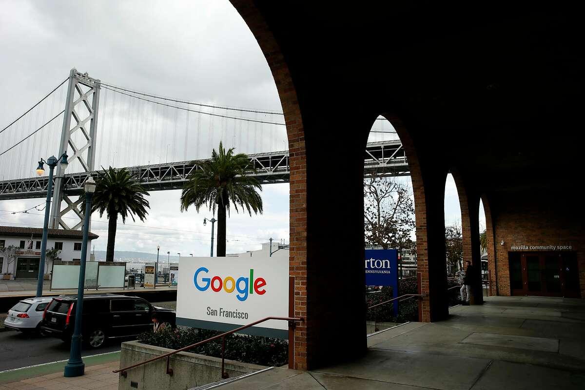 Google San Francisco and the Mozilla building, Friday, Jan. 19, 2018, in San Francisco, Calif.