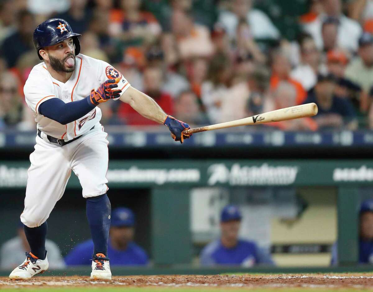 Jose Altuve Grade: A .332 (.865 OPS), 9 HRs, 44 RBI Altuve has been great as always. His .332 average is second in all of baseball. After 24 home runs in each of the past two seasons, his home run numbers are down a bit so far this season, but his 23 doubles puts him nearly on pace to have another 40-double season.