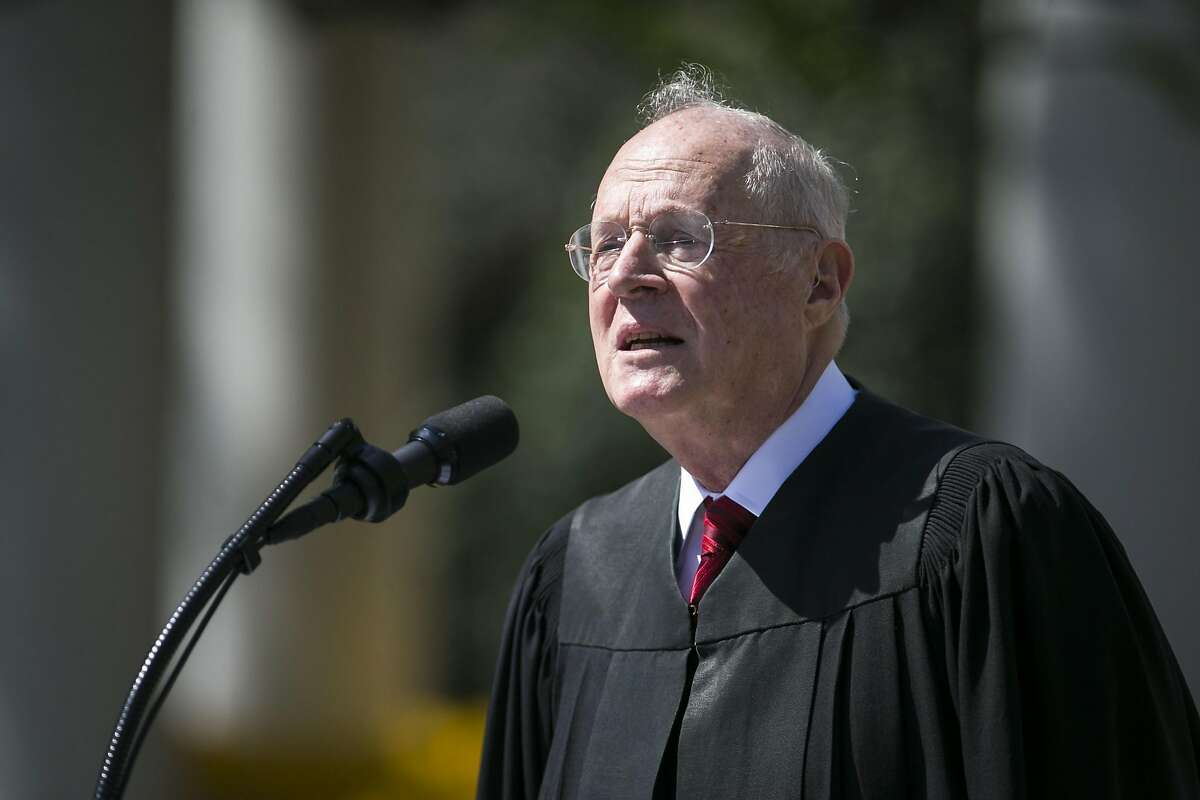 Supreme Court Justice Anthony Kennedy speaks at the Rose Garden of the White House in Washington, April 10, 2017. Kennedy, who has long been the decisive vote in many cases, announced his intent to retire on June 27, 2018, setting the stage for a furious fight over the future direction of the Supreme Court. (Al Drago/The New York Times)