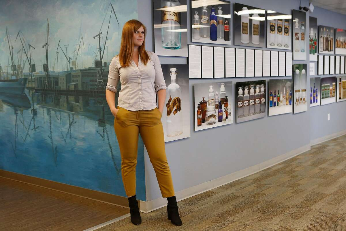 Katie Rabinowitz, general manager of cannabis dispensary Magnolia Oakland, poses for a portrait on Tuesday, June 26, 2018 in Oakland, Calif. Magnolia Oakland stopped stocking the pet cannabis products of TreatWell, a company owned by Alison Ettel, who allegedly called the cops on an 8-year-old girl selling water without a permit, and Rabinowitz is working to cut ties with her entirely.