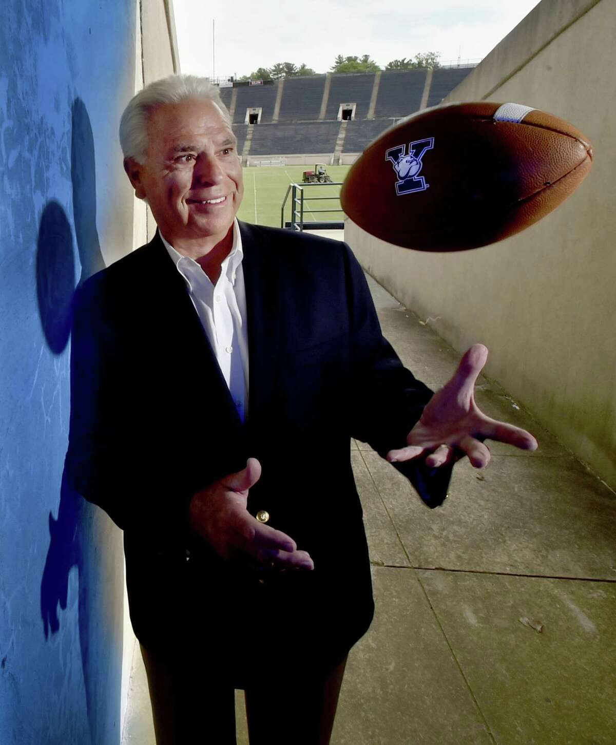 Yale University Athletic Director Thomas Beckett, in a portal at Yale Bowl Monday, is retiring after 24-years at the university.