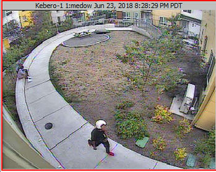 Seattle police are looking for a man who wore a white and red  baseball cap and dark clothing in a case involving an attempted  kidnapping on First Hill Saturday. Photo: Courtesy Seattle Police Department