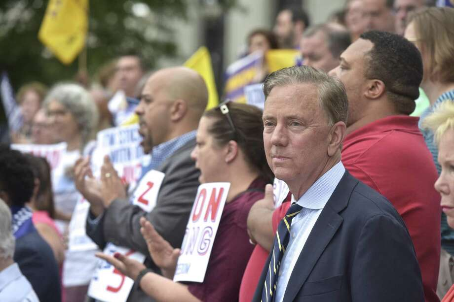 Ned  Lamont attended a press conference by workers and labor leaders on the steps of the Connecticut Supreme Court on Wednesday afternoon in response to the U.S. Supreme Court on Janus v. AFSCME Council case. June 27, 2018, in Hartford, Conn. | File photo Photo: H John Voorhees III / Hearst Connecticut Media / The News-Times