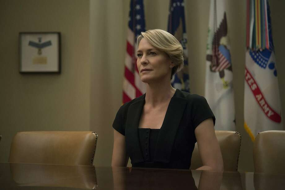 "Robin Wright in season 4 of ""House of Cards."" (David Giesbrecht/Netflix/TNS) Photo: David Giesbrecht/Netflix, TNS"