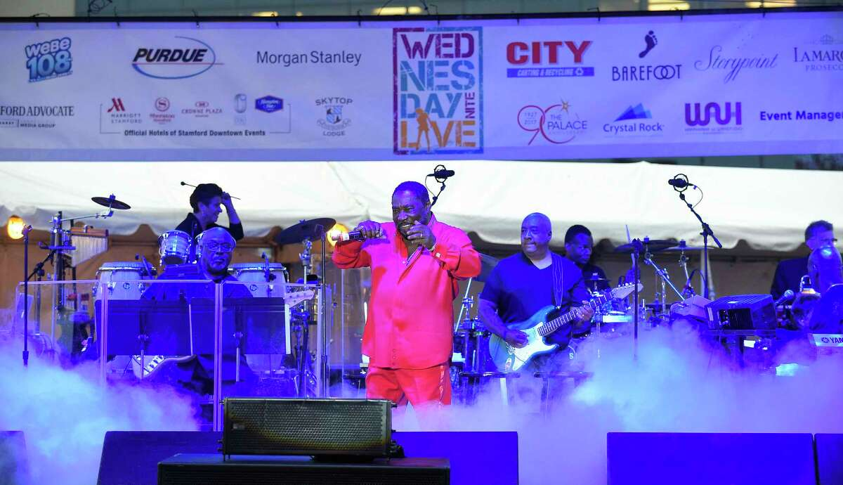 Eddie Levert of The O'Jays performs during the kickoff of the Wednesday Night Live concert series at Columbus Park on June 27, 2018 in Stamford, Connecticut.