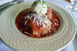 Their signature meatballs at Basta Trattori at 1006 Chapel Street in New Haven.