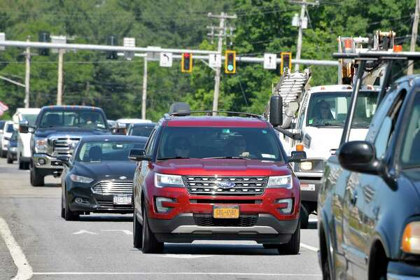 Traffic traveling along Route 50 from Wilton into the city Thursday June 21, 2018 in Saratoga Springs, NY. (John Carl D'Annibale/Times Union)