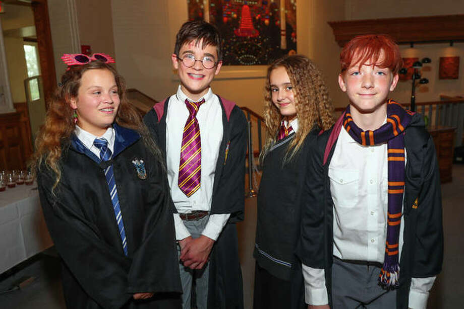 Actors playing Harry Potter characters included Cox as McGonagall; Brant McCance as Dumbledore; Kevin Frakes as Hagrid; Kurtis Leible as Snape; Lorian Warford as Harry Potter; Nadja Kapetanovich as Hermione; Devin Sadler as Ron Weasley; and, Corrine Jones as Luna. Leible also doubled as Voltermore. Photo:       Photo Credit Pete Basola|For The Telegraph