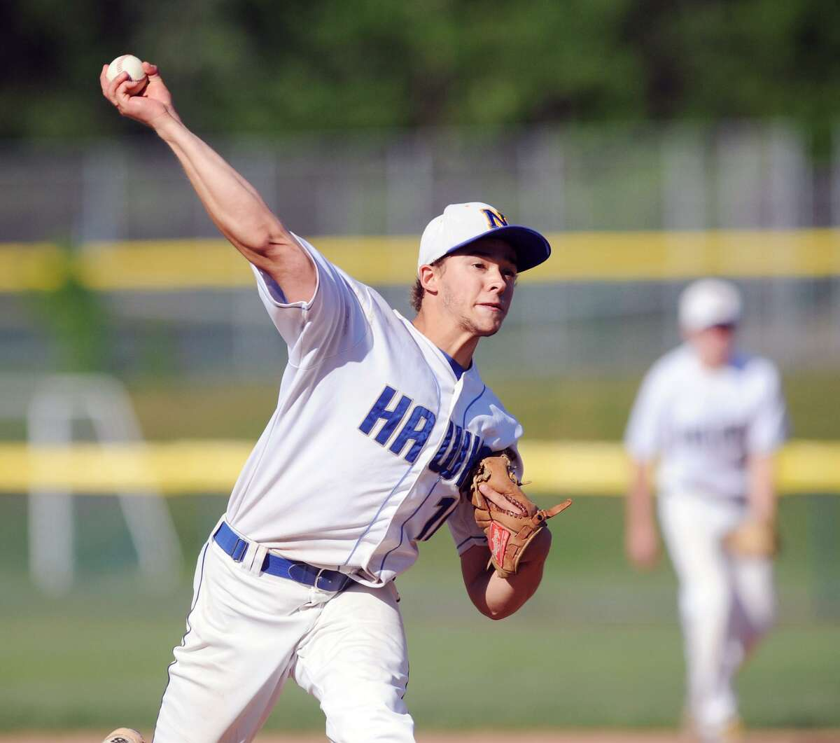 Newtown's Orlando Swift is one of several aces for the Bethel Admirals senior legion team.