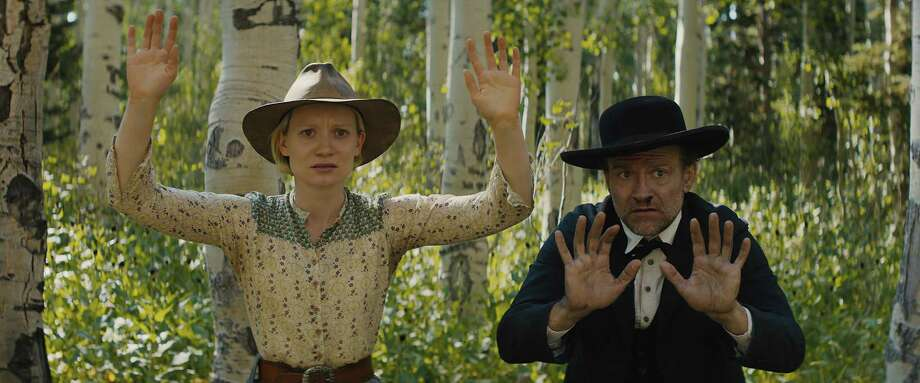 """Mia Wasikowska and David Zellner star in """"Damsel,"""" a comedy-drama that misses its mark. Photo: Magnolia Pictures / TNS"""