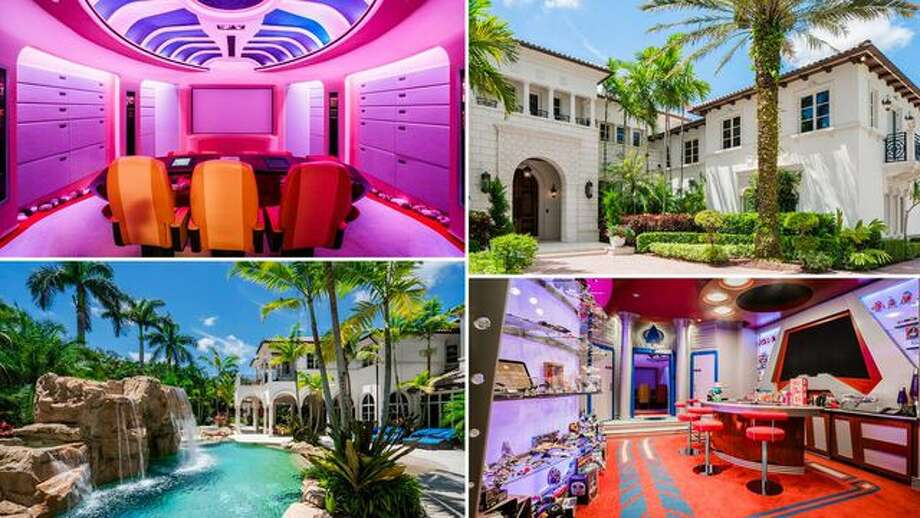 "Entrepreneur Marc Bell recently relisted his showy, ""Star Trek""–themed mansion in Boca Raton, FL, for $34.5 million. Photo: Realtor.com"