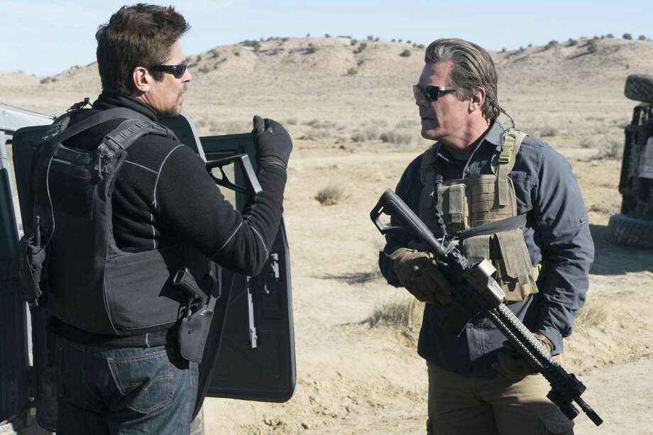 """Benicio Del Toro (left) is a Mexican assassin and Josh Brolin is a CIA operative in """"Sicario: Day of the Soldado."""" Photo: Richard Foreman Jr. / Sony Pictures / © 2017 CTMG, Inc. All Rights Reserved. **ALL IMAGES ARE PROPERTY OF SONY PICTURES ENTERTAINMENT INC. FOR PROMOTIONAL USE ONLY. S"""