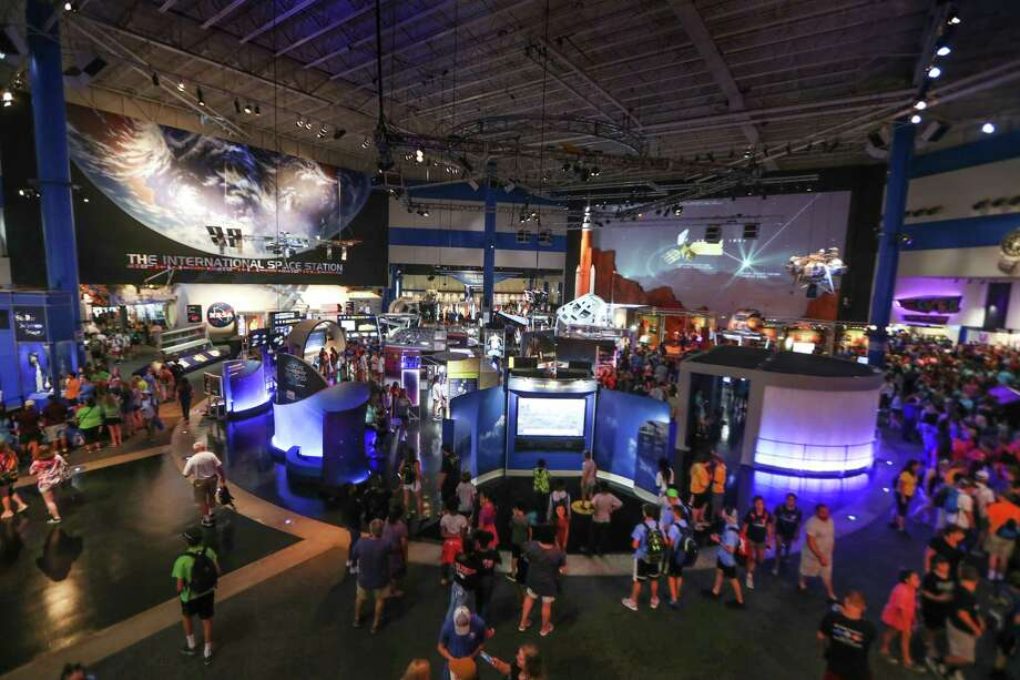 An overall of the interior of Space Center Houston, the museum side of NASA's Johnson Space Center Wednesday, June 27, 2018, in Houston. Photo: Steve Gonzales, Houston Chronicle / © 2018 Houston Chronicle
