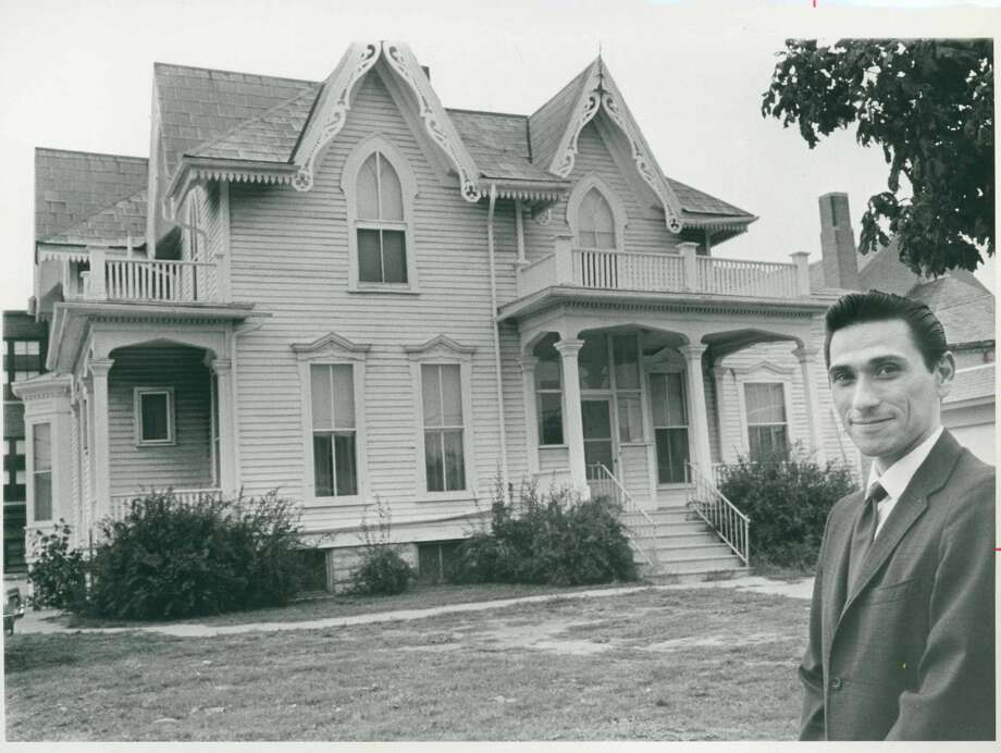Harvey Hirsch and the Bradley House 1969 Photo: Midland County Historical Society