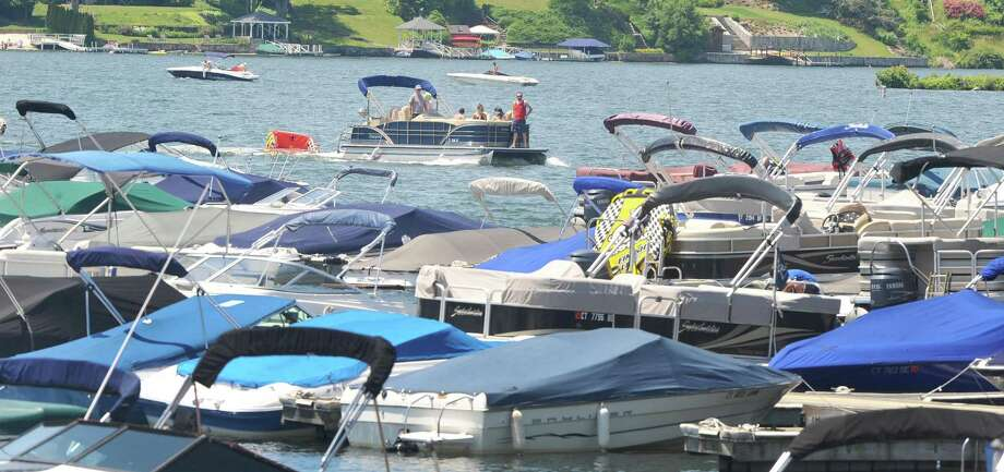 Candlewood Lake is popular with boaters, who have to make sure they are not inadvertently carrying invasive zebra mussels to the waters. Photo: File Photo — Michael Duffy / Hearst Connecticut Media / The News-Times