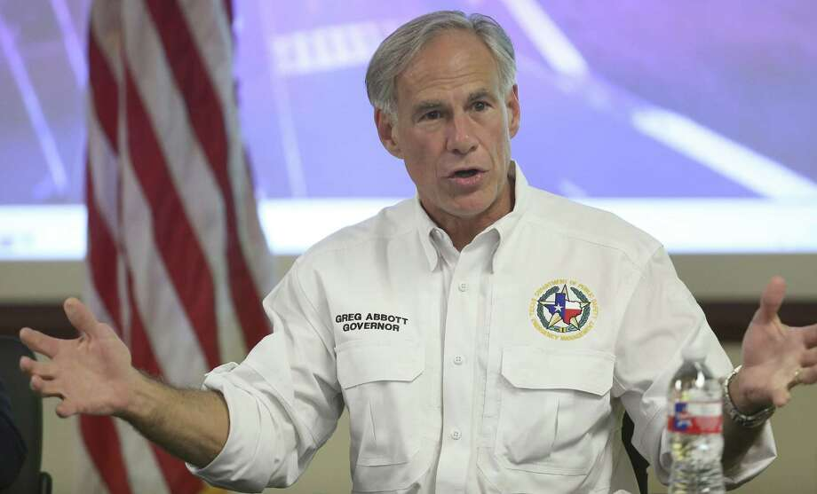Texas Gov. Greg Abbott speaks during a news conference at the Hidalgo County Emergency Operations Center on Tuesday, June 26 2018, in Edinburg, Texas. Abbott signed an official request for a federal disaster proclamation for Cameron and Hidalgo counties. (Delcia Lopez/The Monitor via AP) Photo: Delcia Lopez, MBI / Associated Press / The Monitor