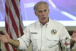 Texas Gov. Greg Abbott speaks during a news conference at the Hidalgo County Emergency Operations Center on Tuesday, June 26 2018, in Edinburg, Texas. Abbott signed an official request for a federal disaster proclamation for Cameron and Hidalgo counties. (Delcia Lopez/The Monitor via AP)