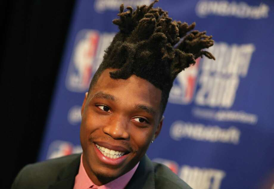 NEW YORK, NY - JUNE 20:  NBA Draft Prospect Lonnie Walker IV speaks to the media before the 2018 NBA Draft at the Grand Hyatt New York Grand Central Terminal on June 20, 2018 in New York City.  (Photo by Mike Lawrie/Getty Images) Photo: Mike Lawrie, Staff / Getty Images / 2018 Getty Images