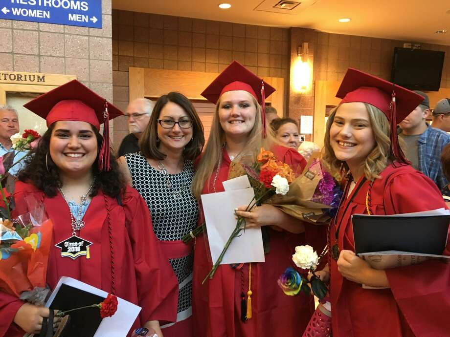 Graduating seniors at Windover High School receive their diplomas during commencement. (Photo provided/Kim Bordeau) Photo: (Katy Kildee/kkildee@mdn.net), (Photo Provided/Kim Bordeau)