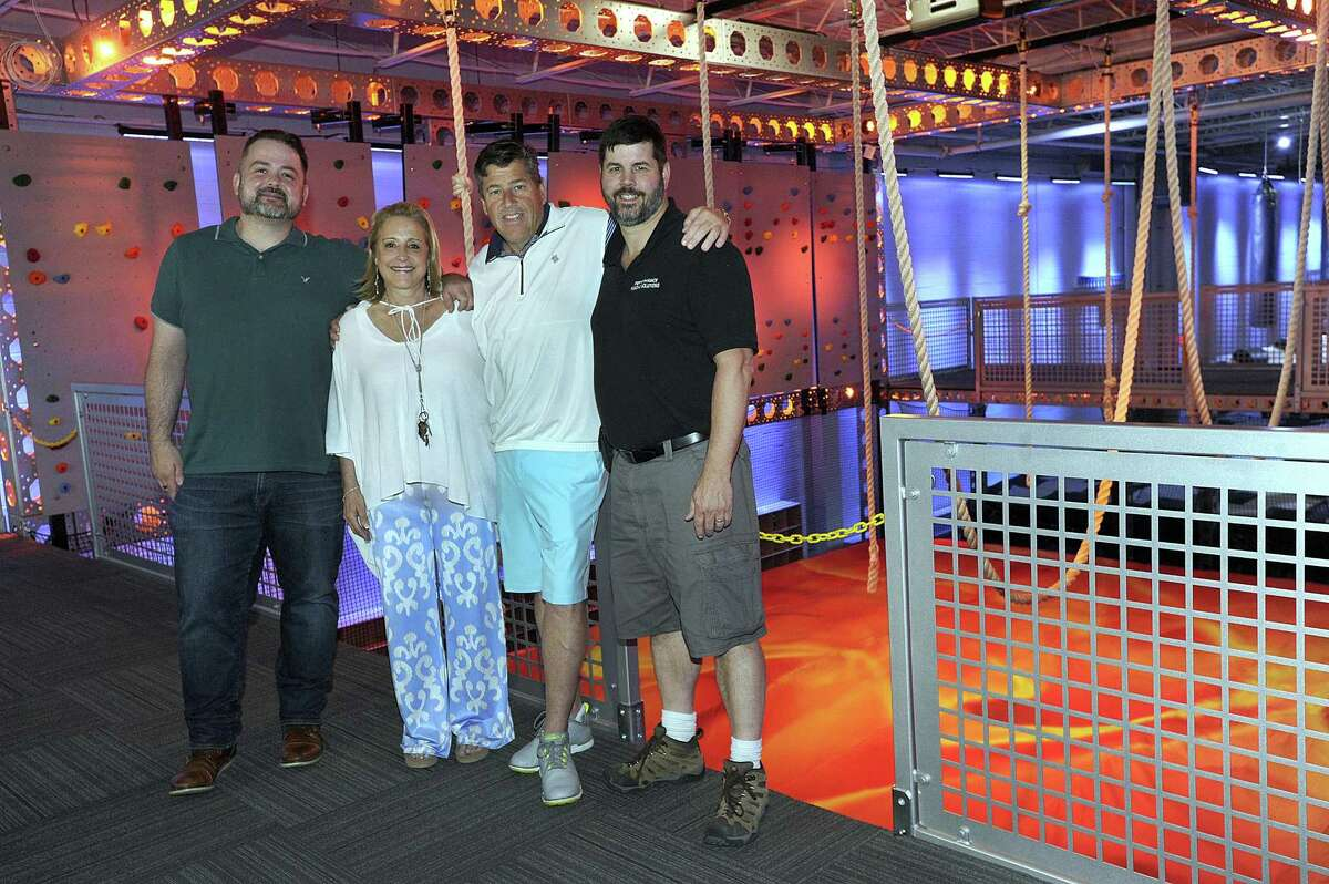 Thrillz, a new entertainment center in Danbury will be opening soon. From left are Joel Earley, manager and artistic director, Rob and Lisa Canon, owners and Jason Clemence, designer/ builder. Photo Tuesday, June 26, 2018.
