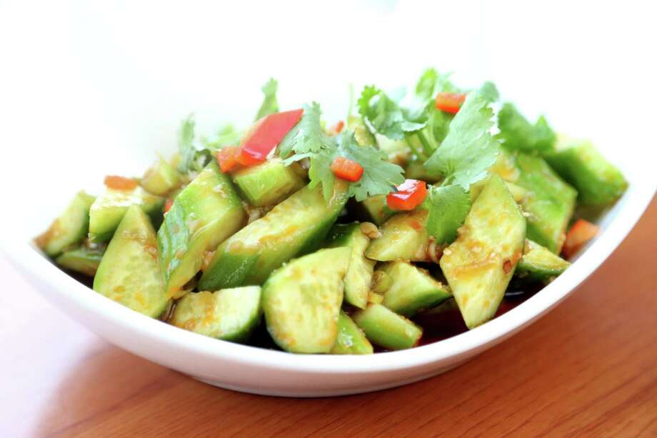 Garlic Cucumber, at Cooking Girl, Thursday, June 23, 2016, in Houston. Sisters Yunan Yang and Lily Luo founded the Sichuan style restaurant as Cooking Girl in Montrose in 2015. It was rebranded as Pepper Twins in 2016. A new location is planned at CityCentre. Photo: Gary Coronado, Staff / Houston Chronicle / © 2015 Houston Chronicle