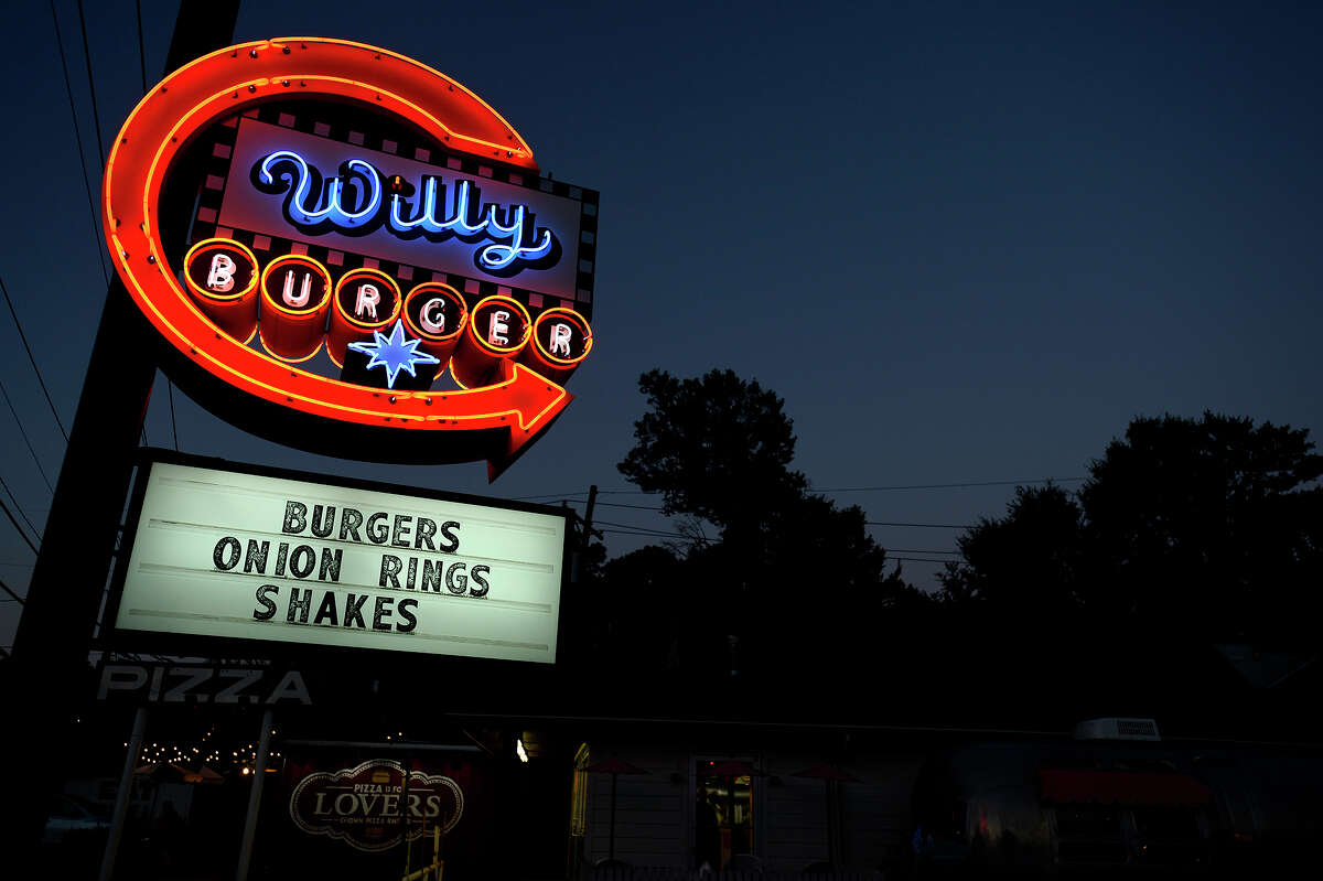 A neon sign at Willy Burger in Beaumont. Photo taken Tuesday 6/26/18 Ryan Pelham/The Enterprise