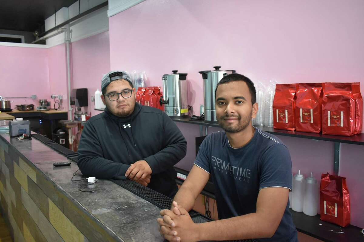 Bubbly's founders Henry Limon (left) and Sabbir Hossain, on Thursday, June 28, 2018, during construction of their bubble tea, rolled ice cream and crepe shop targeting an early July opening.