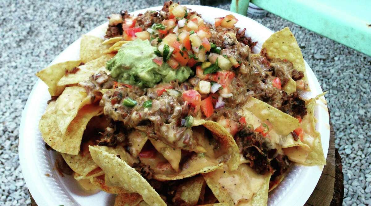 Brisket nachos from The Pigpen will be featured at the new Smoke Shack location inside the San Antonio International Airport.