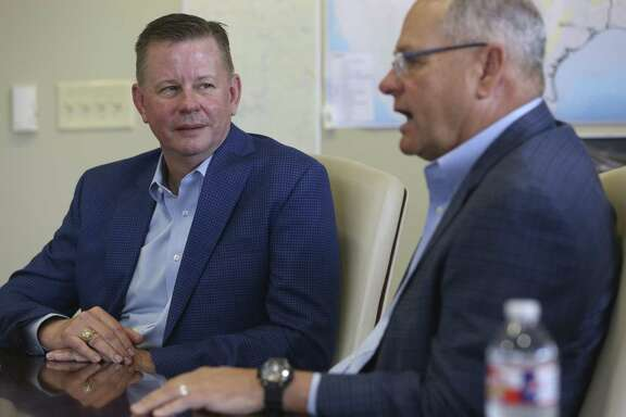 William R. Lemmons, Jr., left, and William D. Waldrip, Managing Partners and Founders of EnCap Flatrock Midstream, are seen May 23, 2018 in their offices.