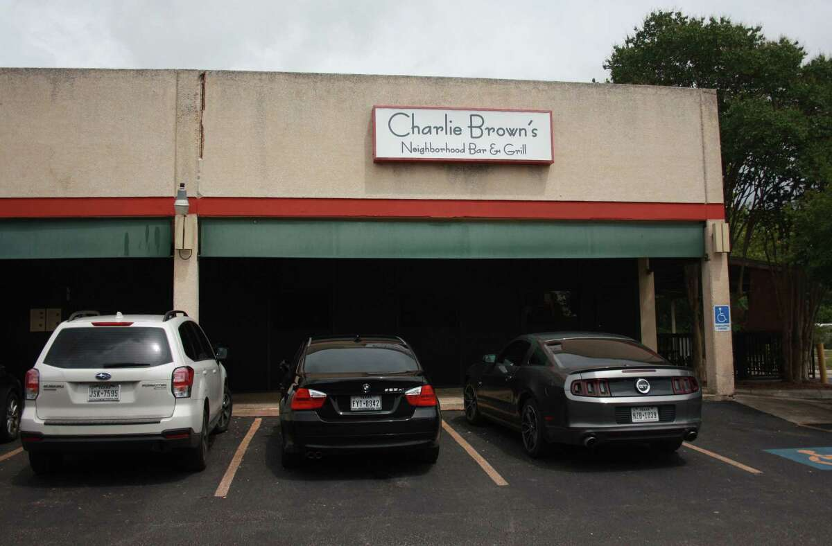 Charlie Brown's Neighborhood Bar & Grill is located inside Blossom Plaza and occupies a corner space at 11888 Starcrest Dr.