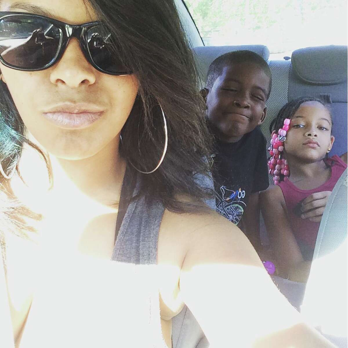 Daila Yeend and her two children Taquan and Savannah.
