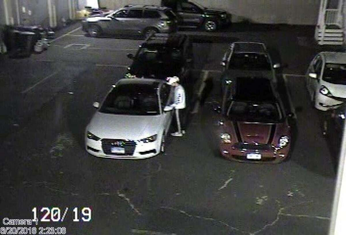 Norwalk police are looking to identify a man suspected of burglarizing a car overnight on Wednesday, June 20.