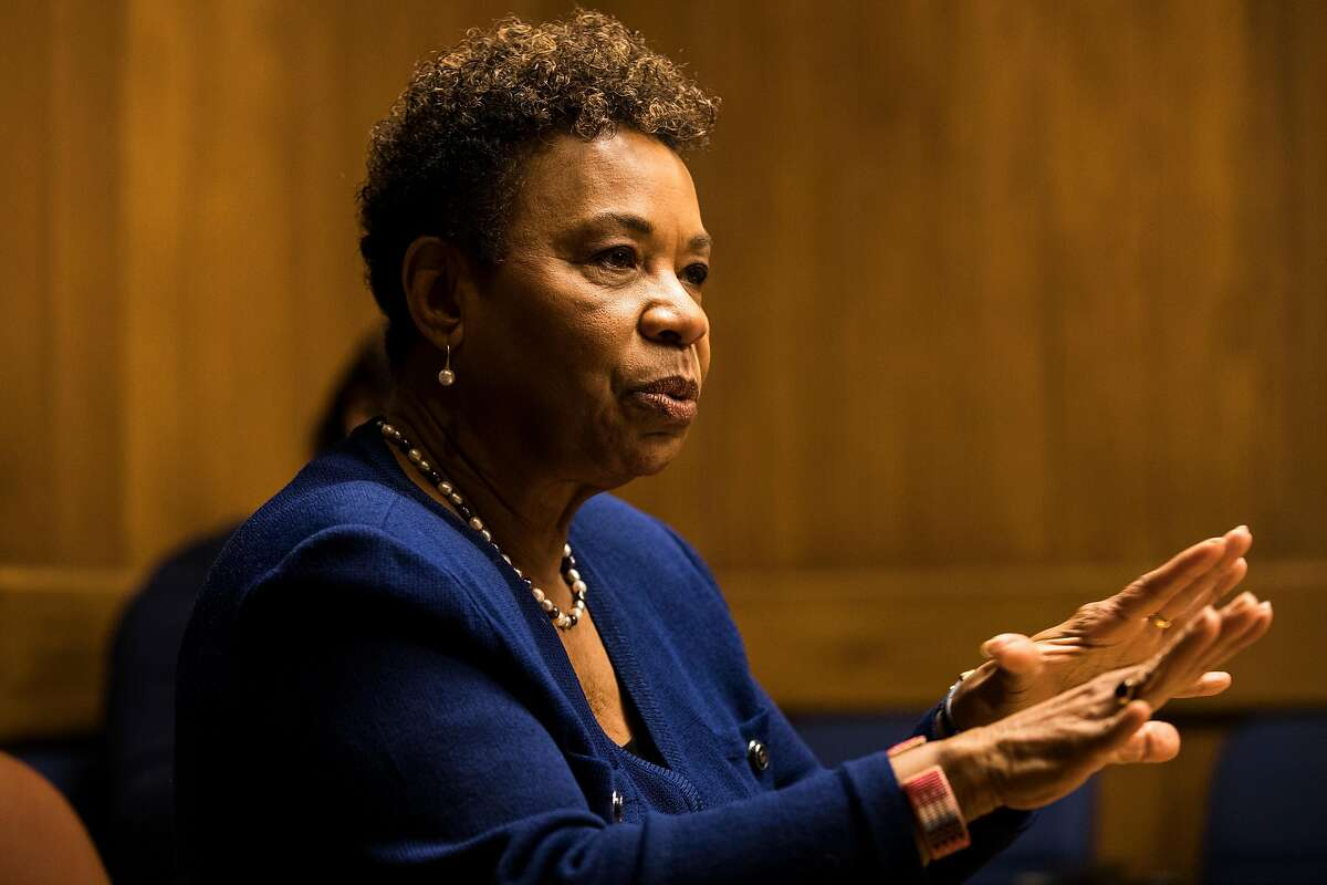 U.S. Rep. Barbara Lee (D-CA) speaks with the Chronicle Editorial Board in San Francisco, Calif. on Friday, Jan. 12, 2018.